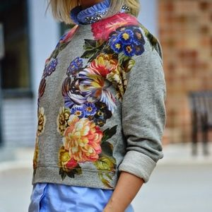 J Crew Dutch Floral sweatshirt